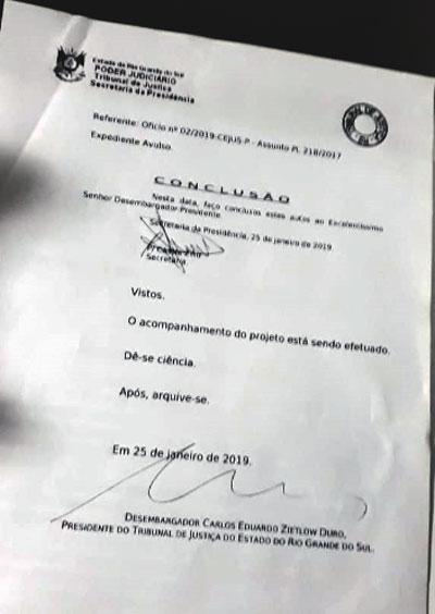 7f94faba76 Desembargador Duro acolhe pedido do CEJUS pelo desarquivamento do PL  218 17. O Presidente do Tribunal de Justiça ...